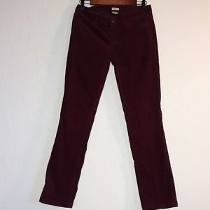 Corduroy J Crew Matchstick pants